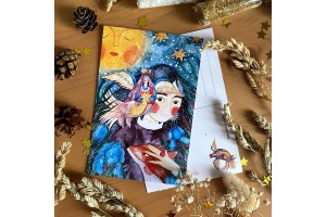 Почтовая открытка «Птица Сирин», Елена Пирус