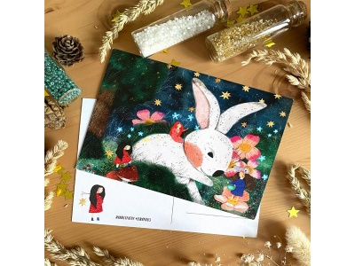 Открытка почтовая «Заяц», автор Лена Пирус