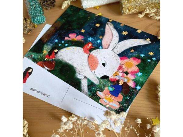 Почтовая открытка «Заяц», Елена Пирус