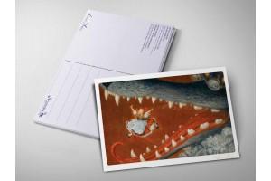 Почтовая открытка «Красная шапочка. Бабушка, почему у тебя такие большие зубы?», Антон Ломаев