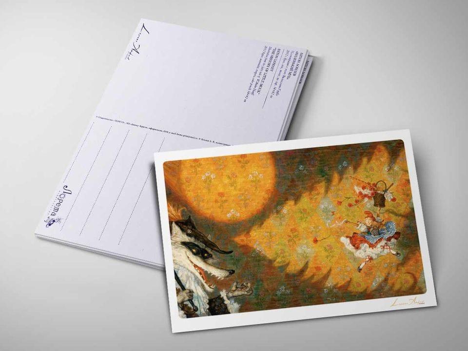 Почтовая открытка «Красная шапочка» из коллекции Ломаева Антона