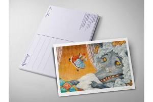 Почтовая открытка «Красная шапочка. Бабушка, почему у тебя такие большие глаза?», Антон Ломаев