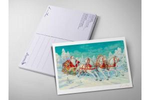 Почтовая открытка «Тройка», Антон Ломаев