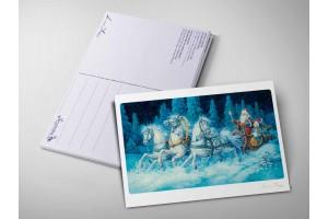 Почтовая открытка «Тройка. Ночь», Антон Ломаев