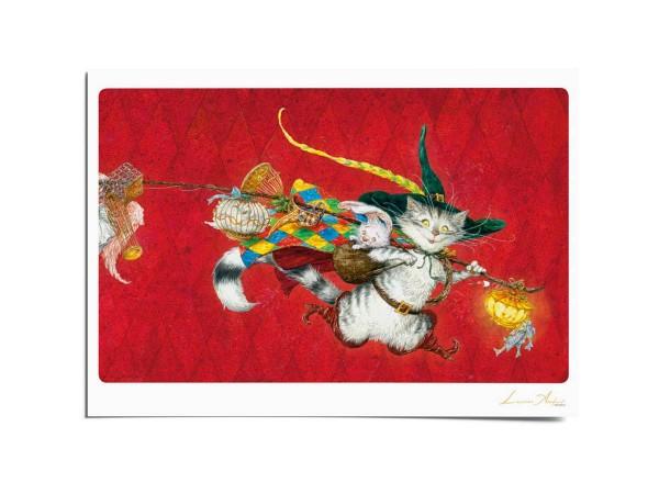 Почтовая открытка по мотивам сказки «Кот в сапогах», Антон Ломаев