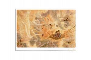 Почтовая открытка по мотивам сказки «Дикие лебеди», Антон Ломаев