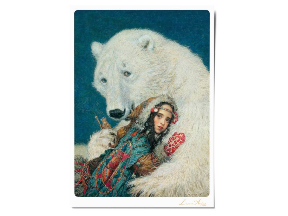 Открытка почтовая «Восток», иллюстрация Ломаева Антона