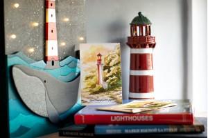 Почтовая открытка «маяк Петродворцвый» (Финский залив. Россия)