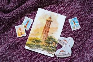 Почтовая открытка «маяк Мощный» (Финский залив. Россия)