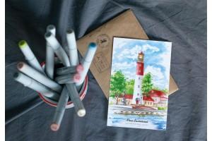 Почтовая открытка «маяк Балтийский» (Балтийское море, Россия)