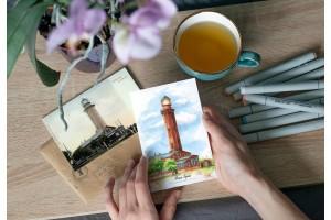 Почтовая открытка «маяк Таран» (Балтийское море, Россия)
