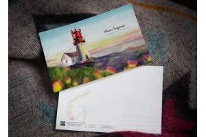 Почтовая открытка «маяк Линдеснес» ( Северное море. Норвегия)