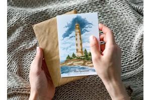 Почтовая открытка «маяк Херсонесский» ( Черное море. Крым)