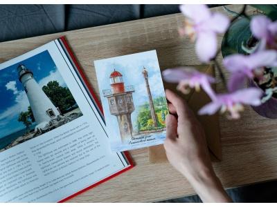 Почтовая открытка «Светящий знак Ломоносовского канала» (Финский залив. Россия)