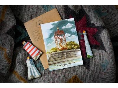 Почтовая открытка «Маяк Фридрихштадтский» (Финский залив. Россия)