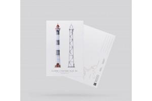 Почтовая открытка «задний створный маяк МК» (Финский залив. Россия)