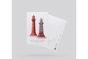Почтовая открытка «створ Верхнего и Нижнего Николаевский маяков» (Финский залив. Россия)