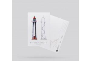 Почтовая открытка «передний створный маяк МК» (Финский залив. Россия)