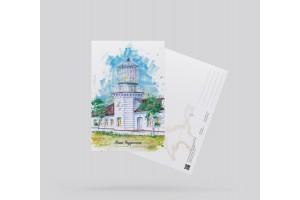 Открытка почтовая «маяк Чаудинский» (Черное море, Крым)