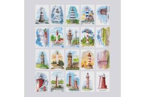 Набор открыток с маяками «Postcross Box mini» (40штук)