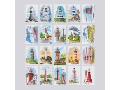 Набор открыток с маяками «Postcross Box