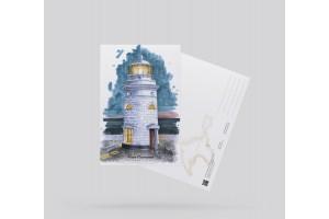 Открытка почтовая «маяк Ильинский» (Черное море, Крым)