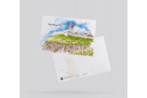 Открытка почтовая маяк «Кабо да Рока» (Португалия)