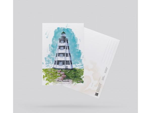 Открытка почтовая «маяк Канинский» (Баренцево море. Россия)