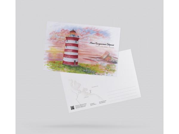 Открытка почтовая «Маяк Кильдинский» (Баренцево море)