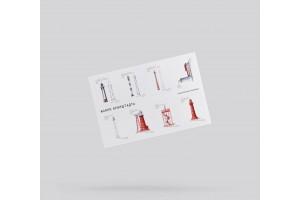Набор стикеров «маяки Кронштадта» на 6 наклеек