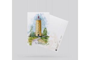 Открытка почтовая «Маяк Мудьюгский» (Баренцево море. Россия)