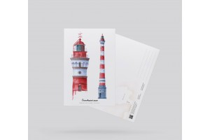 Открытка почтовая «Маяк Осиновецкий» (Ладожские озеро)