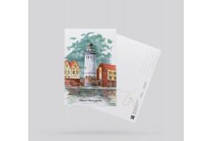 Открытка почтовая «маяк в Рыбной деревне» (Калининград. Россия)