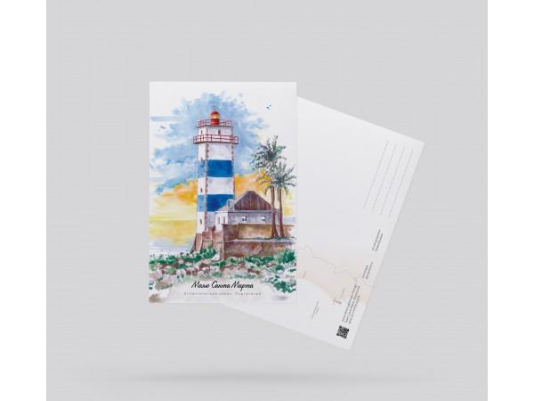 Открытка почтовая «Маяк Санта Марта» (Португалия)