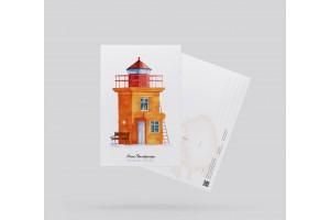 Открытка почтовая маяк «Свальбарсейри» (Исландия)