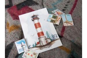 Почтовая открытка «маяк Стирсудден» (Финский залив. Россия)