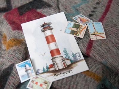 Открытка «маяк Стирсудден» (Финский залив. Россия)