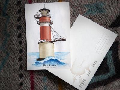 Открытка «маяк Таллинн» (Финский залив. Эстония)