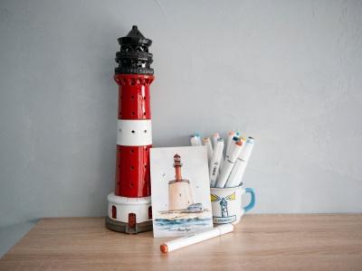 Открытка «маяк Кери» (Финский залив. Эстония)