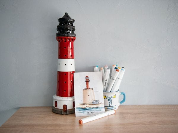 Почтовая открытка «маяк Кери» (Финский залив. Эстония)