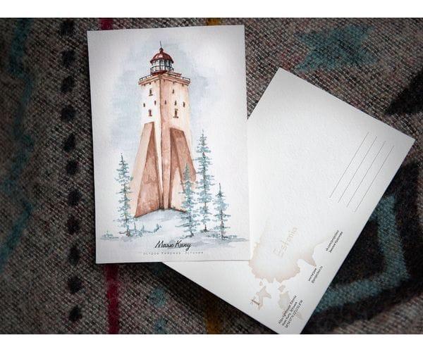 Почтовая открытка «маяк Кыпу» (Финский залив. Эстония)