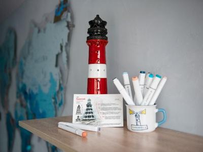 Открытка «маяк Канинский» (Баренцево море. Россия)