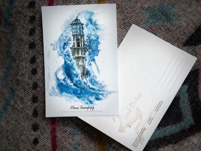 Открытка «маяк Уайтфорд» (Бристольский залив. Великобритания)