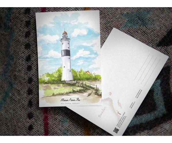 Почтовая открытка «маяк Лонг Ян» (Балтийское море. Швеция)