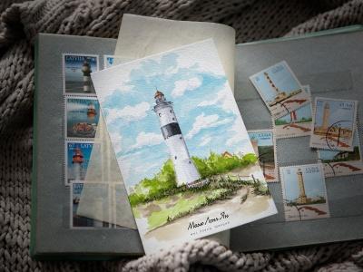 Открытка «маяк Лонг Ян» (Балтийское море. Швеция)