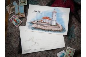 Почтовая открытка «маяк Толбухин» (Финский залив. Россия)
