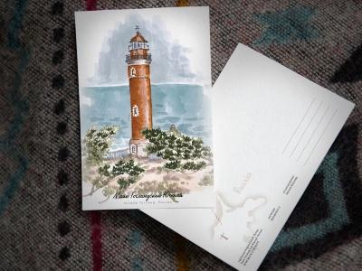 Открытка «маяк Гогланд Южный» (Финский залив. Россия)