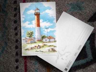 Открытка «маяк Сескар» (Финский залив. Россия)
