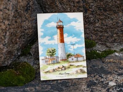 Почтовая открытка «маяк Сескар» (Финский залив. Россия)