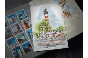 Почтовая открытка «маяк Шепелёвский» (Финский залив. Россия)